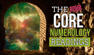 Image is a feature image for the @4 Core Numerology Readings article.