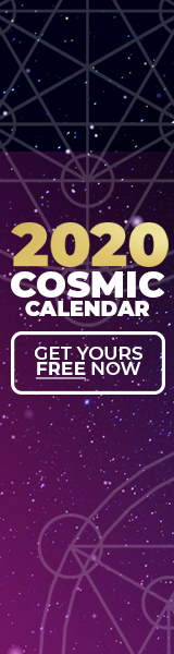 Image reads: 2020 Cosmic Calendar. Get yours Free Here Now!