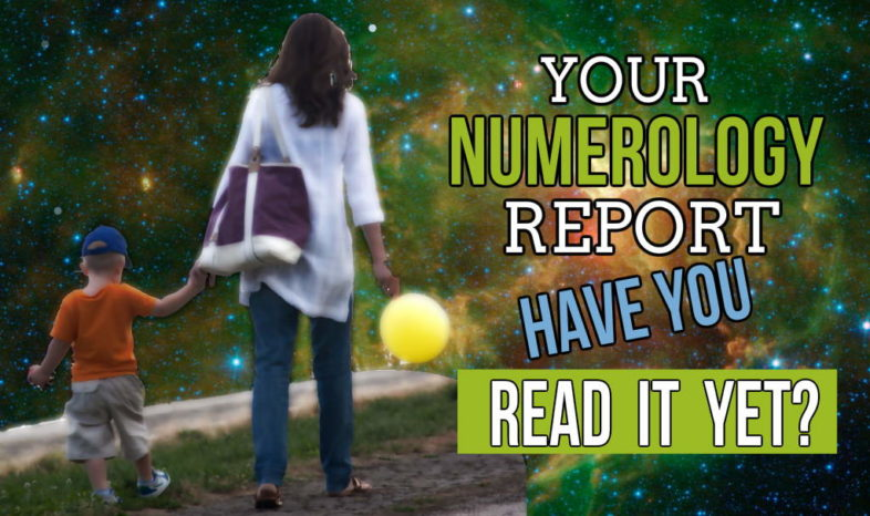 "Image displays the question ""Have you read your numerology report.?"""