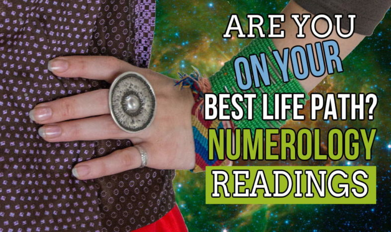 "Feature image with text: ""Are you on your best life path? Numerology Readings""."