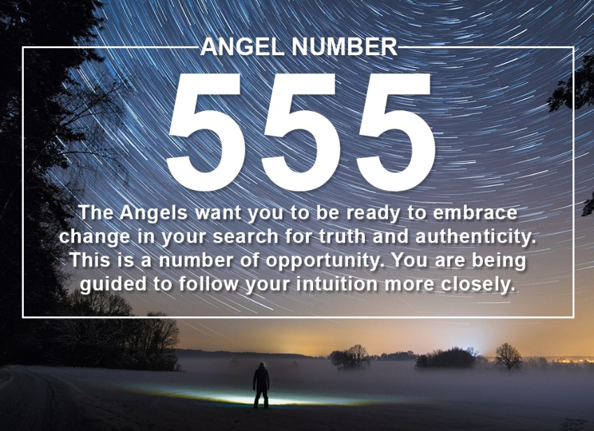 An artistic rendering of the angel number 5.