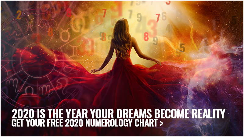 "I Image text: ""2020 is the Year Your Dreams become reality. Get your free 2020 Numerology Chart here""."""